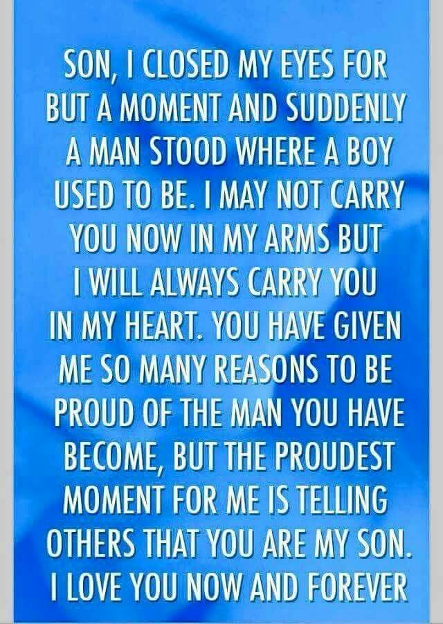 For my little boy who became a man in the blink of an eye :(
