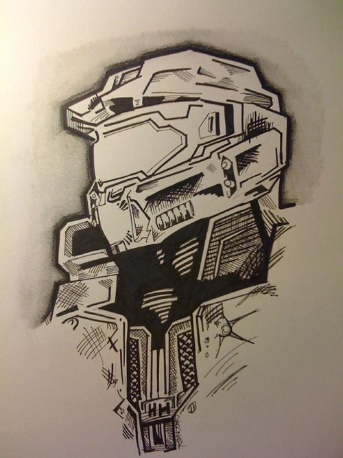 Check out this awesome pencil/marker drawing of Master Chief by a fan. #halo4 (M) #xbox