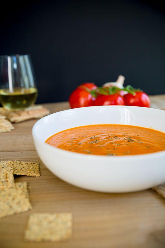 Homemade Tuscan Tomato Bisque in the Vitamix Blender {Gluten Free & Vegan} | Modish and Main