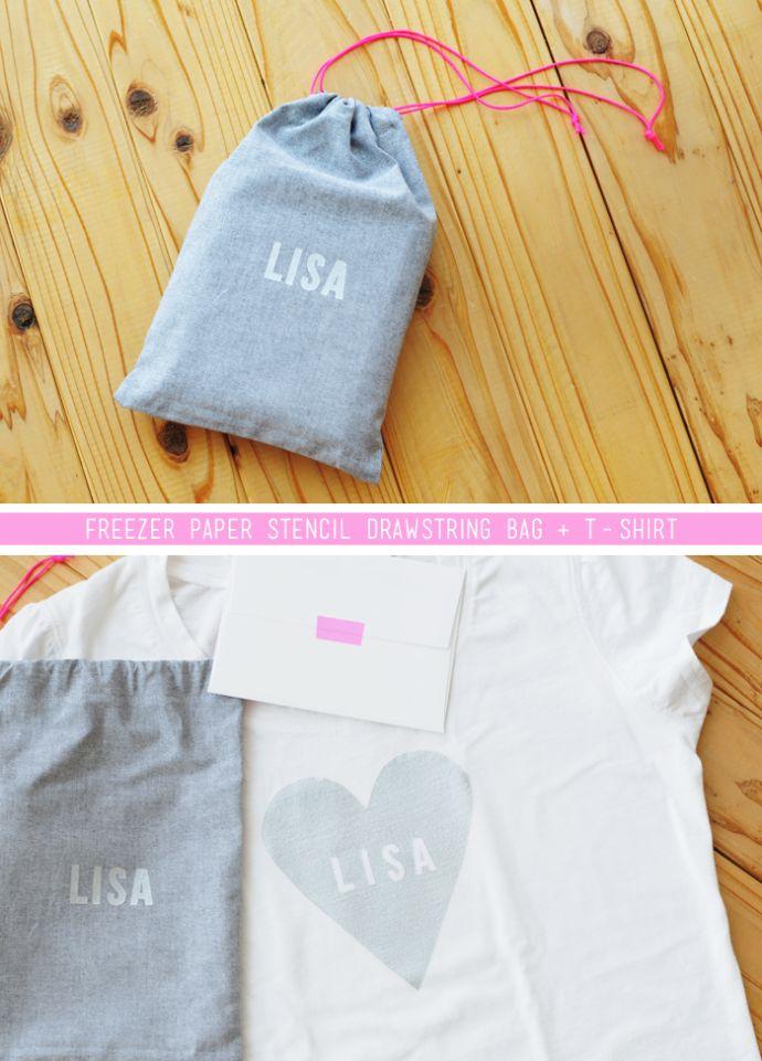 Sally J Shim - FREEZER PAPER STENCIL DRAWSTRING BAG +T-SHIRT (to make ballet bags): T Shirts Gifts, Ballet Bag, Bags Ideas