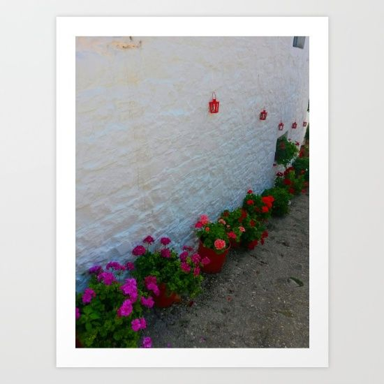 15% OFF+FREE SHIPPING ON EVERYTHING @society6 #Celebrate #om #Christmas2016 #society6 #giftshopping #christmasideas https://society6.com/product/geraniums-small-village-greece_print?curator=azima