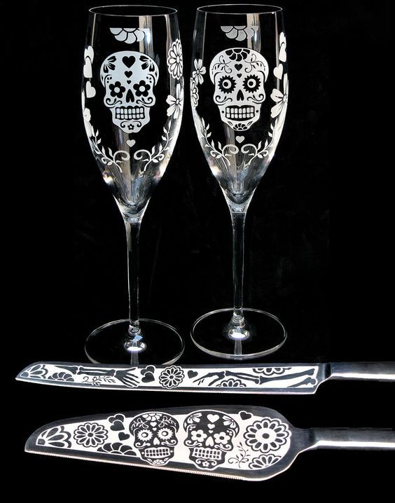 Day of the Dead Wedding Set, available at:  www.BradGoodellWeddings.com