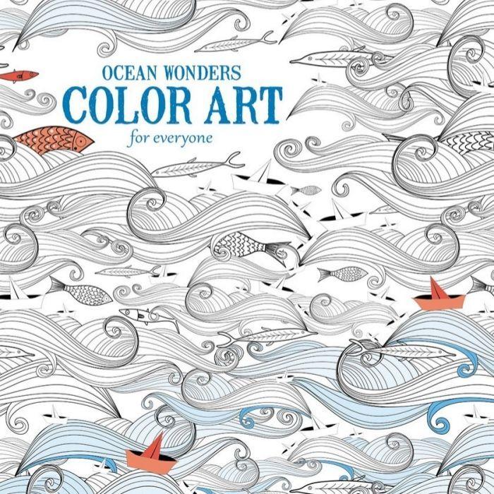 Coloring Book Adult Ocean Wonders Enjoy Creative Sea Wave Fish Art Stress Relief
