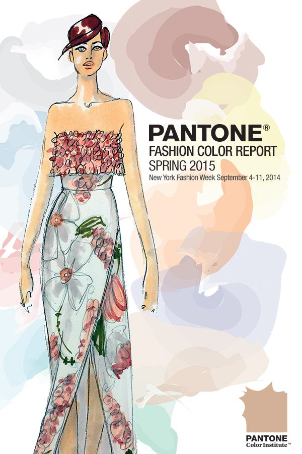 Pantone+Fashion+Color+Report+Spring+2015. A report from fashion week on the cooler and softer color choices with subtle warm tones that follow a minimalistic plein air theme, taking a cue from nature. Now I've got to flip through my Stylesight pdfs to analyze their predictions.
