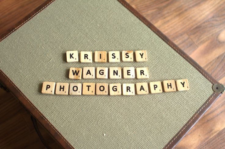 Loving my new scrabble letters as a prop! Creative