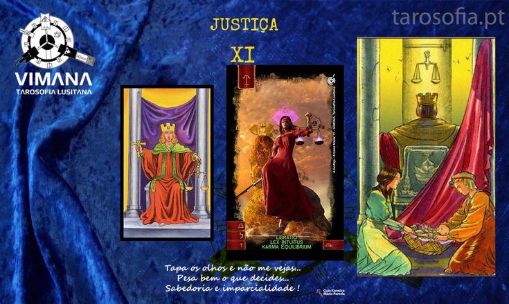 Chamam-lhe Justiça (Justice), Ajustamento ou Virtude em vários e diferentes baralhos.