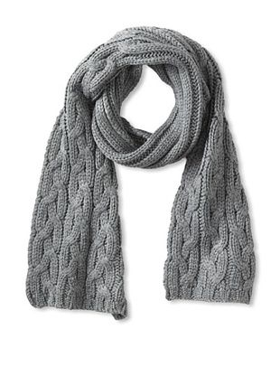 Amicale Men's Cable Knit Scarf (Heather Grey)
