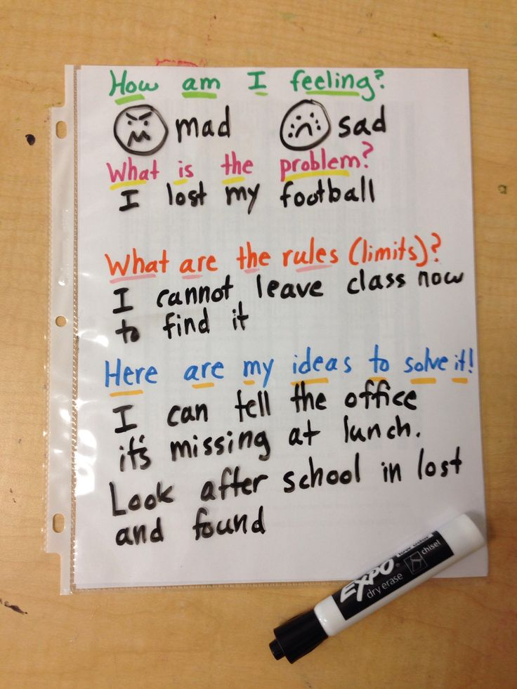 Problem solving time! Simple idea for counselors and can be used in calm down areas in classrooms or at home!