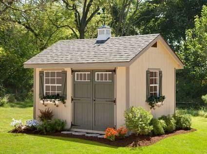 cute garden shed plans heritage amish shed kit 10 x 16 gardening for you