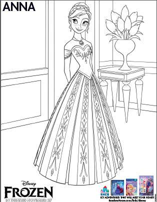 Disney Frozen Coloring Sheets - Anna, Elsa, Kristoff  http://www.sistersshoppingonashoestring.com/disney-frozen-coloring-sheets