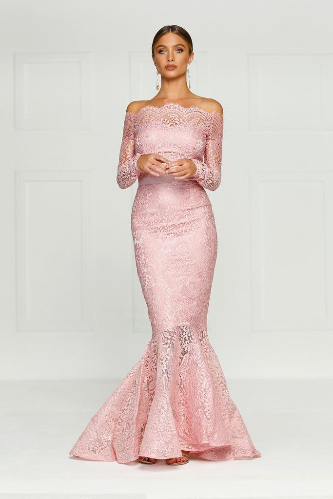 Alamour The Label - Kamali Lace Gown - Dusty Pink