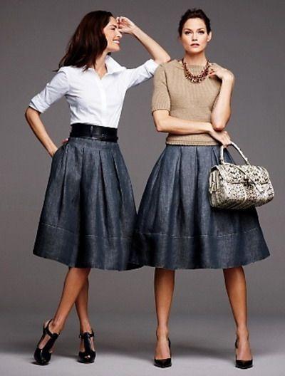 Beautiful Denim Skirts Styles : denim skirts for women