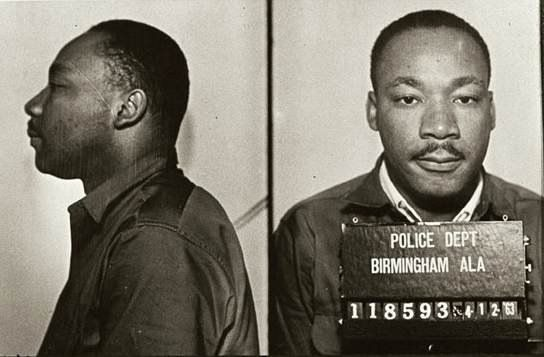 Mug shots of Martin Luther King following his arrest for protesting the treatment of blacks in Birmingham (Alabama), 1963