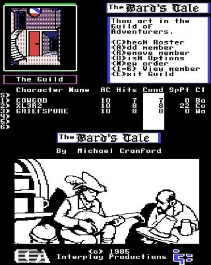 The Bard's Tale: Tales of the Unknown, Vol. 1, Commodore C64