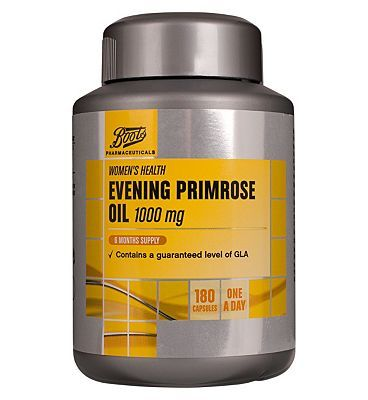 #Boots Pharmaceuticals Boots Evening Primrose Oil 1000 mg 6 Months #72 Advantage card points. FREE Delivery on orders over 45 GBP. (Barcode EAN=5045097866608)