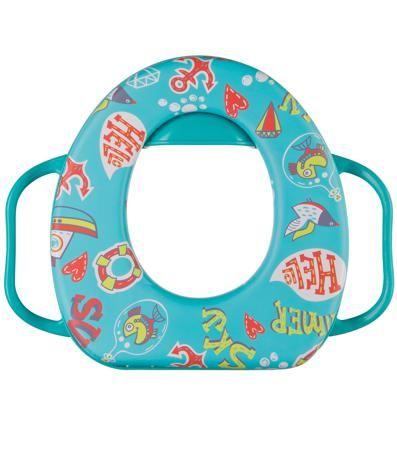 Happy baby Safary Aquamarine  — 1265р. ------------------------- Накладка на унитаз Happy baby Safary Aquamarine - удобный аксессуар для ребенка, помогающий приучить к самостоятельному пользованию туалетом. Яркий и красочный дизайн, мягкое и очень легкое сиденье. Надежные ручки и защитный бортик от брызг и капель. Поду...