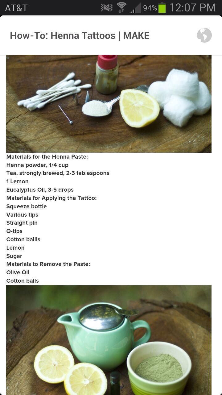 Henna Recipe :)