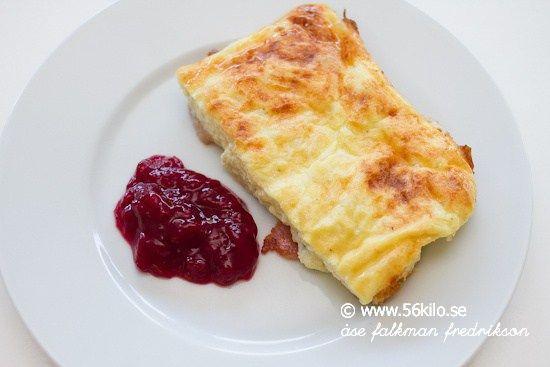Ugnspannkaka med bacon LCHF - 56kilo - Wellness, LCHF och Livsstil