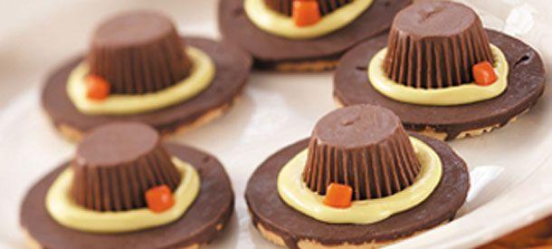 pilgrim hat cookies recipe thanksgiving kids