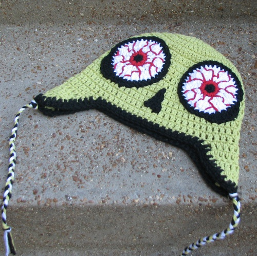 Crocheted Zombie Hat Crochet Pinterest