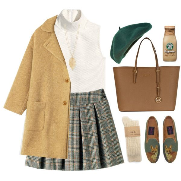 Don't Let Me Fall by sweetpastelady on Polyvore featuring moda, H&M, Toast and Michael Kors