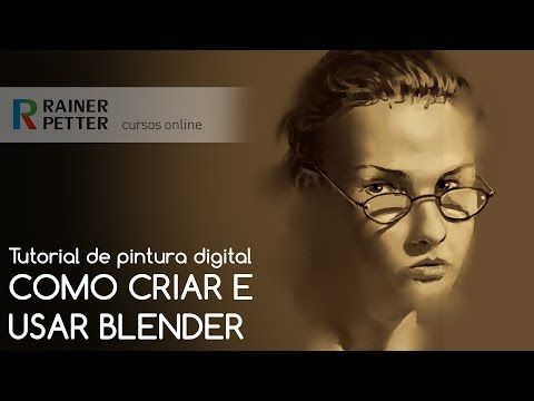 Tutorial de pintura digital - Como criar e usar Blender - YouTube