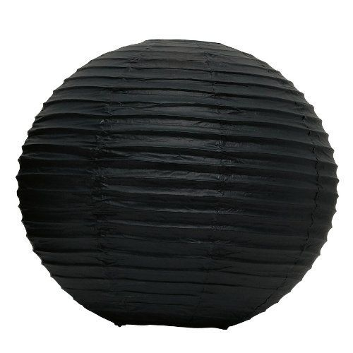 Weddingstar Round Paper Lantern, Large, Black by Weddingstar Inc.. $5.98. Mix and match the colors and sizes to customize the lanterns to your individual needs. Available in various sizes. Available in various colors. Paper Lanterns only, lights not included. 20-inch diameter. These decorative paper lanterns add an incredible new dimension to any party decor. They are especially stunning when used outdoors but will accent nearly any space. Mix and match the colors and ...