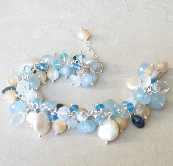 Perfect for those summer days....or when it's cold and you are missing those summer days! Handmade gemstone fringe bracelet - handcrafted jewelry by Bethany Rose Designs at www.BethanyRoseDesigns.etsy.com