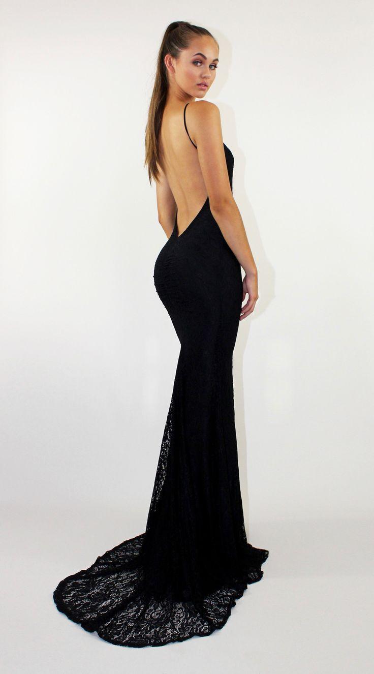 Reckless Black LACE FISHTAIL DRESS BY STUDIO MINC. #formal #prom