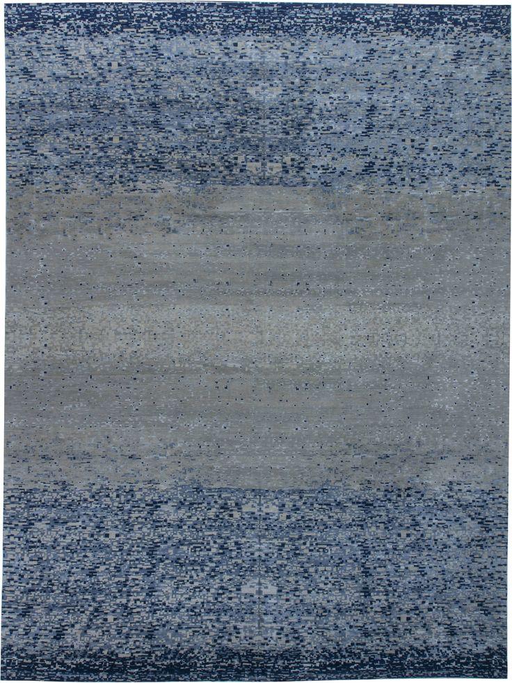 Tibetan Rugs: Tibetan Rug perfect for modern interior decor, contemporary living room, geometric rug