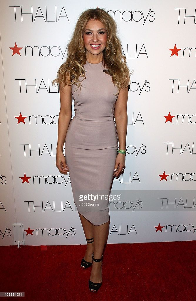 Singer Thalia attends Macy's announcement of the exclusive deal for new Thalia brand at Sunset Tower Hotel on December 5, 2013 in West Hollywood, California.