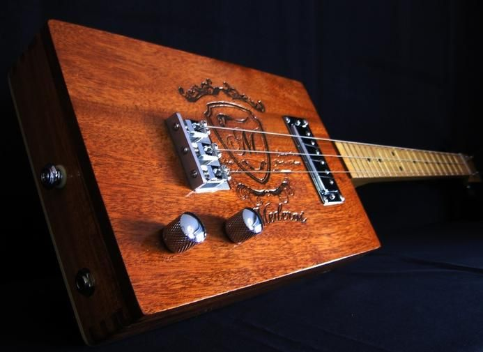 how to play cigar box guitar 4 string