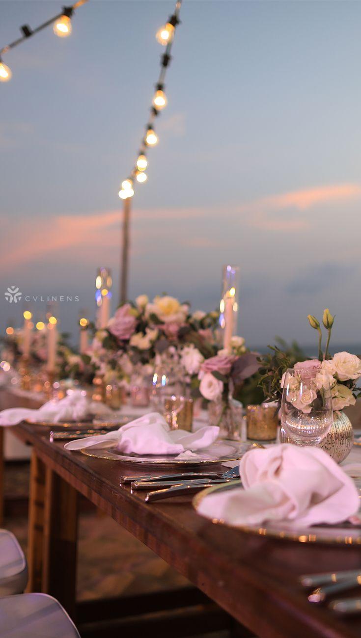 Polyester Napkin 20 X20 White Beach Wedding Tables Diy