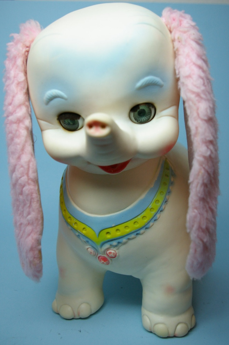strange Vintage Edward Mobley Elephant Rubber Squeak Toy Doll.  Etsy We had Zsa Zsa and Ava Gabor from Gram and Gramp Cornelius