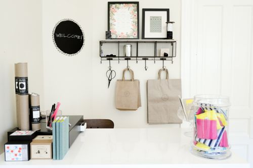 love this idea for a wrapping station - could even be in a closet?