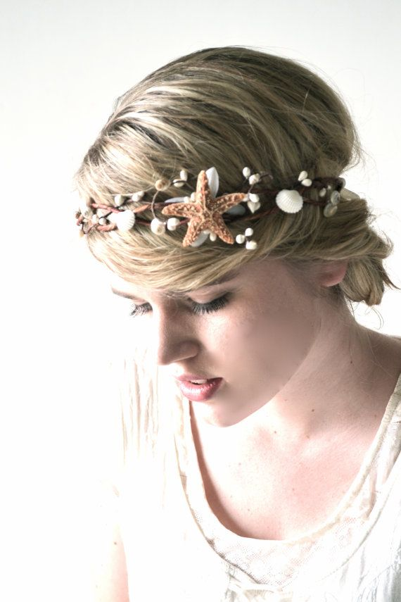Beach Wedding Head Piece, Seashell Hair Accessory ...