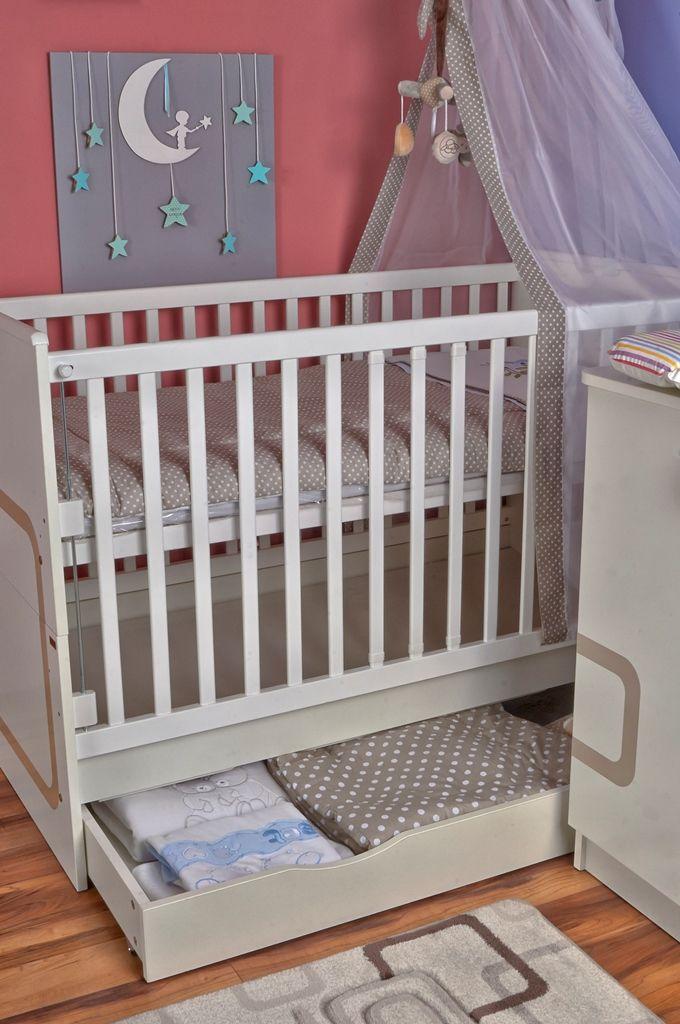 Polly crib with drawer / Polly ágyneműtartós babaágy