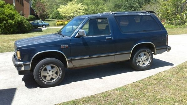 1989 Chevy S10 Blazer  My First Car  It Was Black With Red
