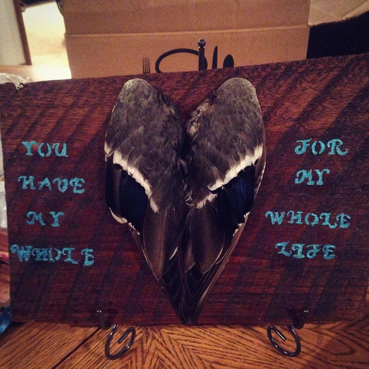 Made this for my boyfriend for valentines day.. We both love duck hunting and rustic decorations.