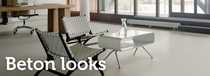 Jouw vloer met de uitstraling van Beton, maar dan met de comfortabele eigenschappen van PVC of de allure van Marmoleum of het gemak van vinyl... Schoone WOONwensen heeft een collectie beton-looks. #smart