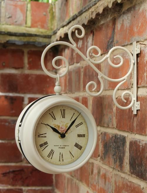 wile away the hours in your dream garden with this chic vintage style outdoor clock