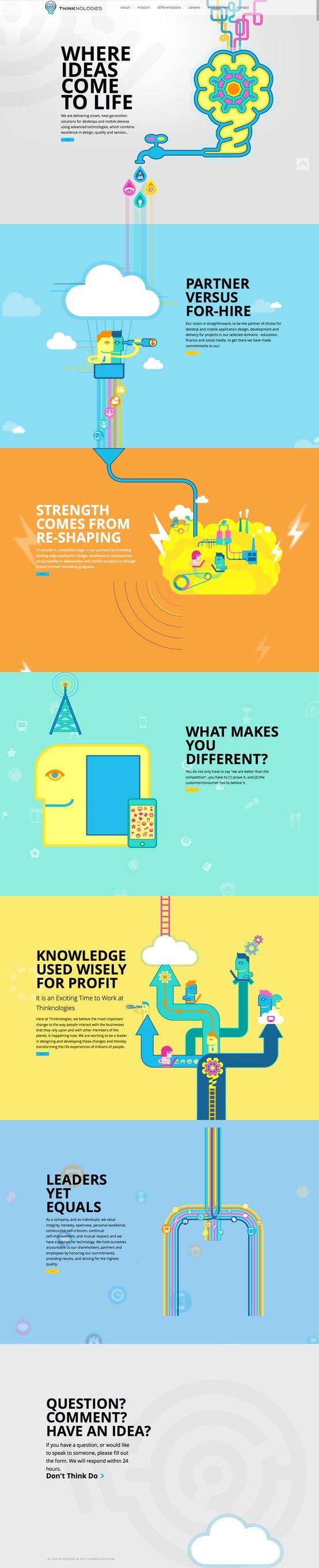 colorful web design