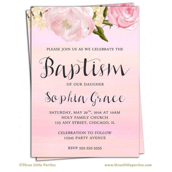 Personalized Baptism Invitations