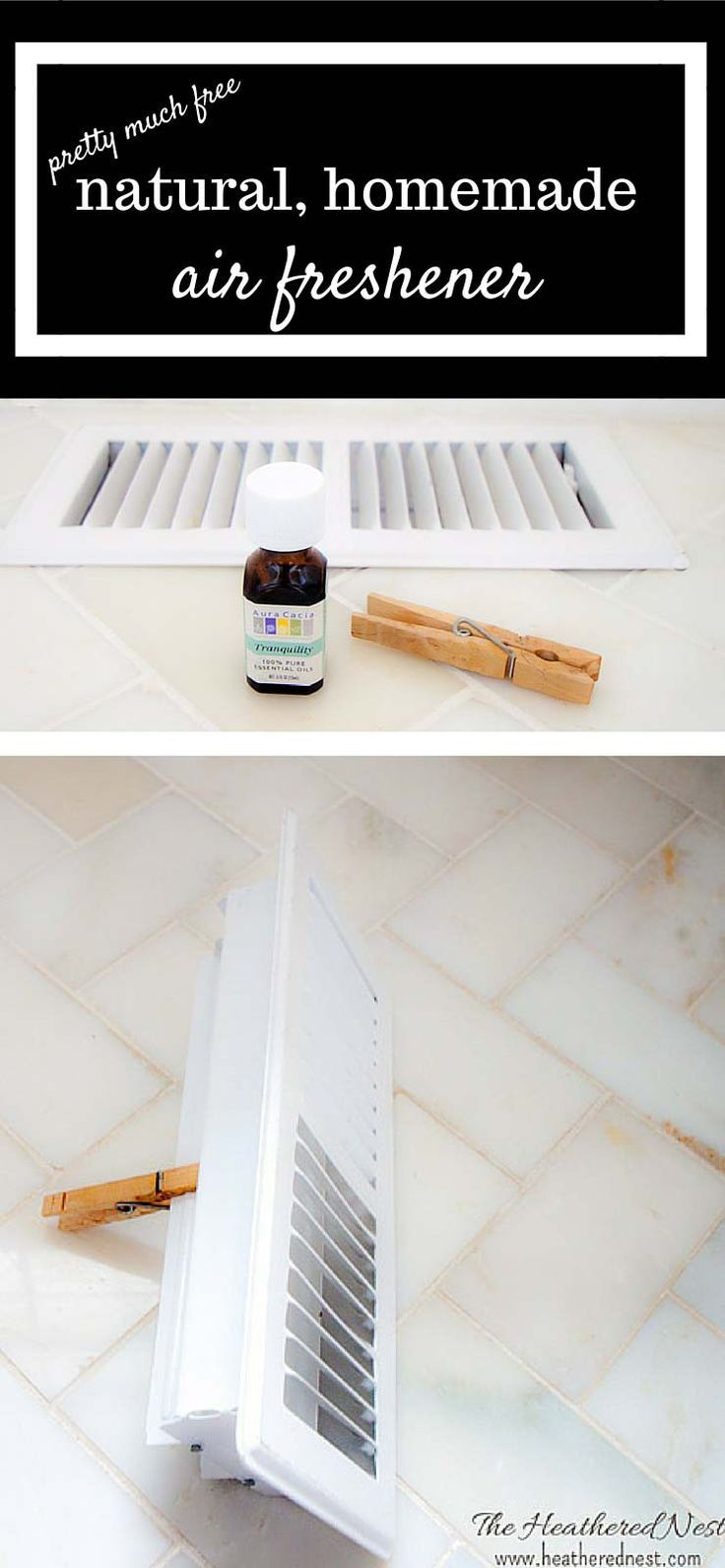 SMARTEST, easiest, cheapest ever DIY air freshener maybe ever! Make this DIY homemade air freshener using only natural oils. No more nasty chemically plug-ins! full tutorial on http://www.heatherednest.com