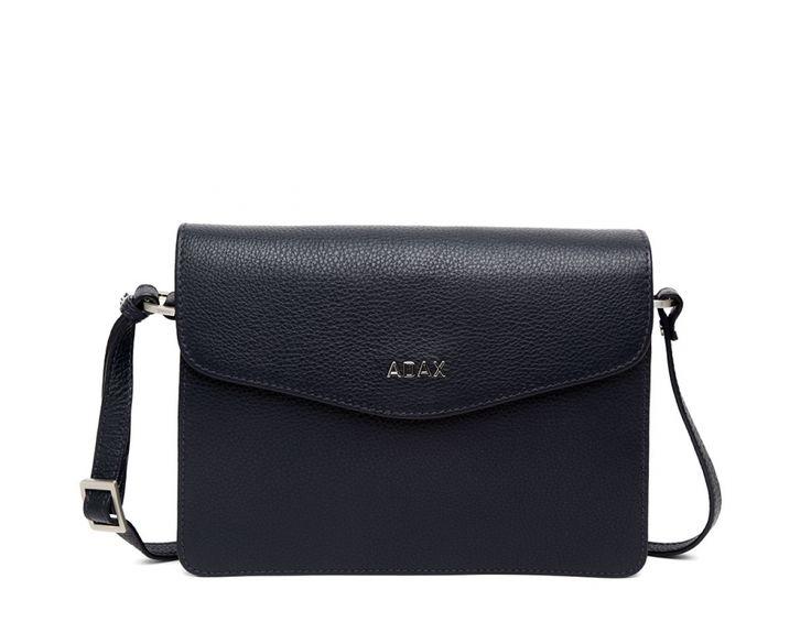 Smuk lille Adax Lova taske i skind - 230092 Blue