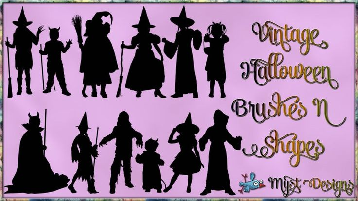Vintage Halloween Brushes and Shapes