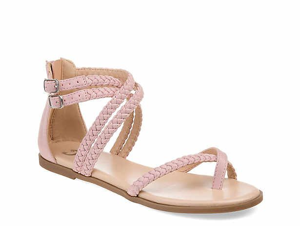Women's Pink \u0026 White Flat Sandals   DSW