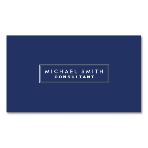 301 best simple elegant business cards images on pinterest professional elegant plain simple modern blue business card accmission Choice Image