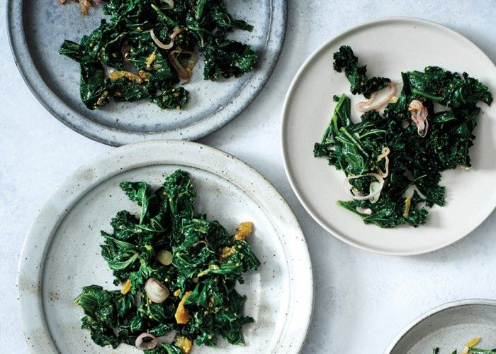Sautéed Kale with Lime Pickle - Bon Appétit