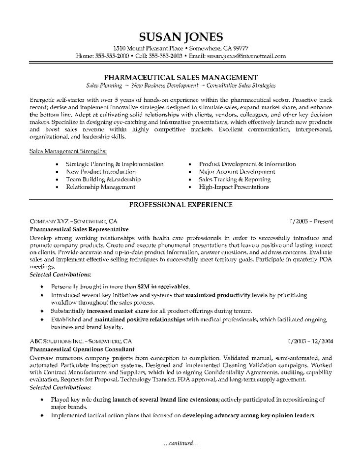 Pharmaceutical-Sales-Resume-Example-Page-1